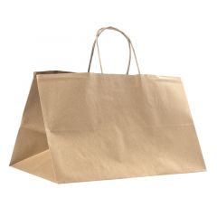 Nyörikannikekassi Take Away, ruskea kierrätyspaperi