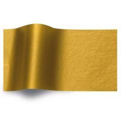 Silkespapper Metall Guld 1-sidig