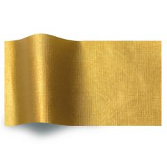 Silkespapper Satin Präglat guld linne