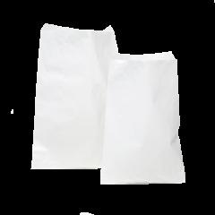 Litteä ohut paperipussi, valkoinen