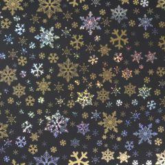 Lahjapaperi Black Golden Stars, FSC