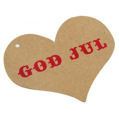 HÄNGETIKETT HJÄRTA GOD JUL