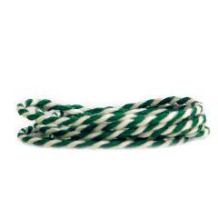Puuvillanyöri, vihreä/valkoinen