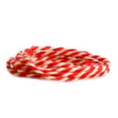 Puuvillanyöri, punainen/valkoinen